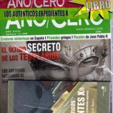 Coleccionismo de Revistas y Periódicos: REVISTA AÑO CERO Nº 12-209 CON LIBRO EXPEDIENTES X PRECINTADO. Lote 57227708
