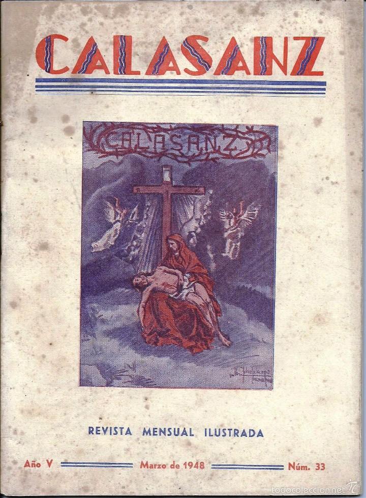 ANTIGUA REVISTA *CALASANZ*, MARZO DE 1948. Nº 33. (Coleccionismo - Revistas y Periódicos Modernos (a partir de 1.940) - Otros)