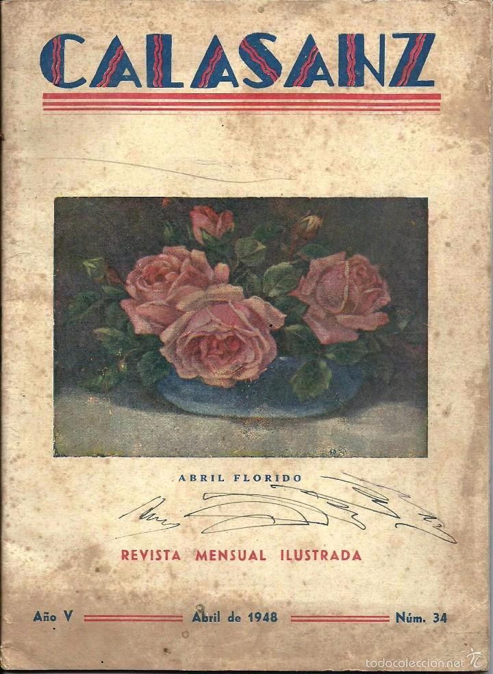 ANTIGUA REVISTA *CALASANZ*, ABRIL DE 1948, Nº 34. LOS PECES CAIDOS (Coleccionismo - Revistas y Periódicos Modernos (a partir de 1.940) - Otros)