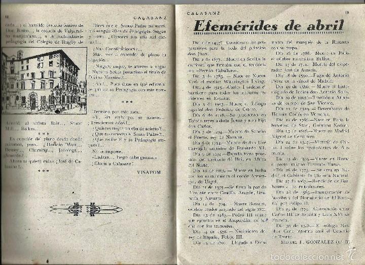 Coleccionismo de Revistas y Periódicos: ANTIGUA REVISTA *CALASANZ*, abril de 1948, nº 34. Los Peces Caidos - Foto 2 - 57251984