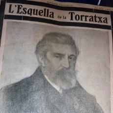Coleccionismo de Revistas y Periódicos: REVISTA L'ESQUELLA DE LA TORRATXA Nº 2711 1931 ESPECIAL MUERTE SANTIAGO RUSIÑOL VIDA , FOTOS OBRA. Lote 57257772