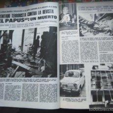 Coleccionismo de Revistas y Periódicos: RECORTE ATENTADO TERRORISTA CONTRA LA REVISTA EL PAPUS. Lote 57279449