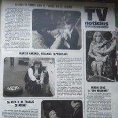 Coleccionismo de Revistas y Periódicos: RECORTE LA HIJA DE FOFITO Y EL TURRON MILIKI MARISA NARANJO ANALIA GADE 300 MILLONES. Lote 183868336