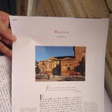 Coleccionismo de Revistas y Periódicos: PUEBLOS UNO A UNO DOCUMENTACION GRAFICA - MONTORO - CORDOBA. Lote 57298129