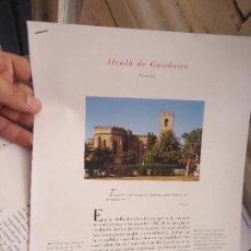 Coleccionismo de Revistas y Periódicos: PUEBLOS UNO A UNO DOCUMENTACION GRAFICA - ALCALA DE GUADAIRA - SEVILLA. Lote 57298193
