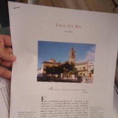 Coleccionismo de Revistas y Periódicos: PUEBLOS UNO A UNO DOCUMENTACION GRAFICA - LORA DEL RIO - SEVILLA. Lote 57298440