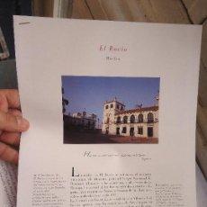 Coleccionismo de Revistas y Periódicos: PUEBLOS UNO A UNO DOCUMENTACION GRAFICA - EL ROCIO - HUELVA. Lote 57298608