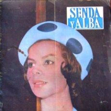 Coleccionismo de Revistas y Periódicos: ANTIGUA REVISTA *SENDA Y ALBA*, FESTIVAL DE CINE DE SAN SEBASTIAN.... Lote 57317196