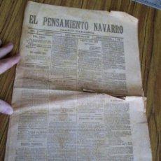 Collezionismo di Riviste e Giornali: PENSAMIENTO NAVARRO - DIARIO CARLISMO - AÑO 1 Nº 1 -- PAMPLONA 17 OCTUBRE 1897. Lote 57385620