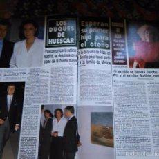 Coleccionismo de Revistas y Periódicos: RECORTE LOS DUQUES DE HUESCAR LA DUQUESA DE ALBA. Lote 57391031