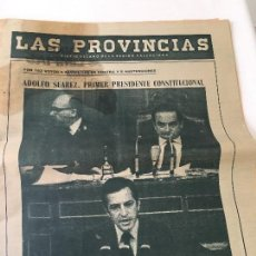 Coleccionismo de Revistas y Periódicos: PERIODICO LAS PROVINCIAS 31-03-1979 TITULAR: ADOLFO SUAREZ PRIMER PRESIDENTE CONSTITUCIONAL. Lote 57474661