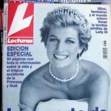 Coleccionismo de Revistas y Periódicos: REVISTA LECTURAS MUERTE DIANA DE GALES 12 SEPTIEMBRE 1997 CARMEN MORALES HIJA DE ROCIO DURCAL. Lote 57610628