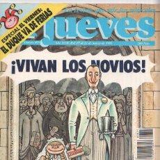 Coleccionismo de Revistas y Periódicos: EL JUEVES NUMERO 0825 - POSTER CENTRAL TARJETAS DE VISITA. Lote 57637321