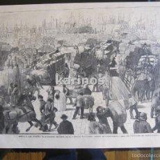 Coleccionismo de Revistas y Periódicos: GRABADO 1880. NUEVA-YORK PUERTO CERCA DEL FONDEADERO DE NORTH-RIVER (261). Lote 57670081