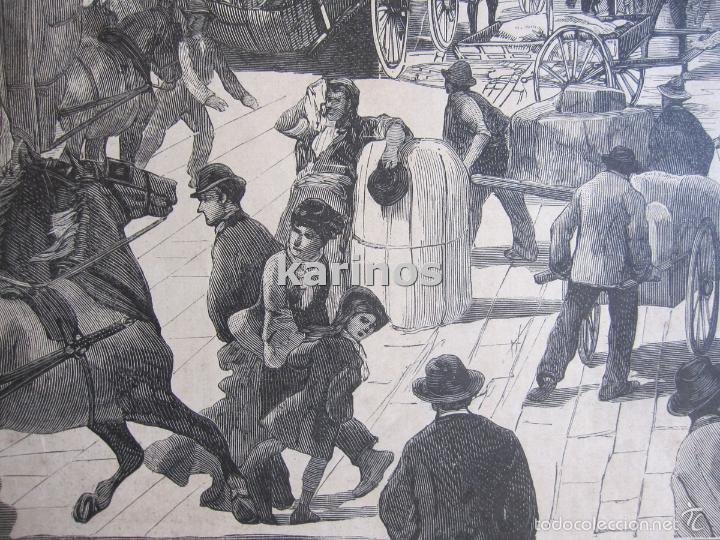 Coleccionismo de Revistas y Periódicos: Grabado 1880. Nueva-York puerto cerca del fondeadero de North-River (261) - Foto 2 - 57670081