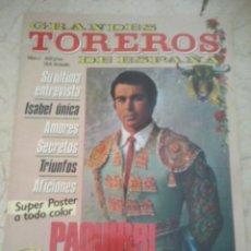 Coleccionismo de Revistas y Periódicos: REVISTA GRANDES TOREROS DE ESPAÑA Nº 1 PAQUIRRI GLORIA Y MUERTE DE UN TORERO. Lote 57677535
