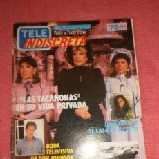 Coleccionismo de Revistas y Periódicos: REVISTA TELE INDISCRETA AÑO 3 Nº 131 - DON JOHNSON - UN DOS TRES - LINA MORGAN ...TELEINDISCRETA. Lote 57735166