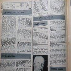 Coleccionismo de Revistas y Periódicos: RECORTE ALFRED HITCHCOCK . Lote 57775703