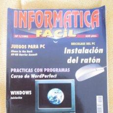 Coleccionismo de Revistas y Periódicos: INFORMATICA FACIL Nº 1 AÑO 1993. Lote 57794070