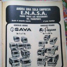 Coleccionismo de Revistas y Periódicos: RECORTE ANUNCIO CAMIONES PEGASO ENASA SAVA . Lote 57794685
