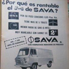 Coleccionismo de Revistas y Periódicos: RECORTE ANUNCIO CAMIONES PEGASO ENASA SAVA . Lote 57797740
