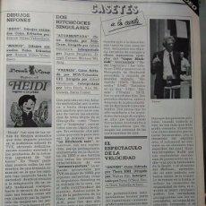 Coleccionismo de Revistas y Periódicos: RECORTE HEIDI EN VIDEO INGRID BERGMAN JOSEPH COTTEN MICHAEL WILDING ALFRED HITCHCOCK ATORMENTADA. Lote 57804041