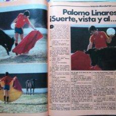 Coleccionismo de Revistas y Periódicos: RECORTE MUNDIAL 82 NARANJITO INTERVIU PALOMO LINARES. Lote 57811343