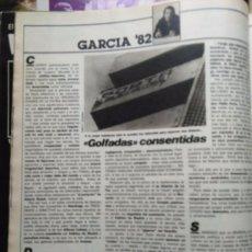 Coleccionismo de Revistas y Periódicos: RECORTE MUNDIAL 82 NARANJITO INTERVIU JOSE MARIA GARCIA. Lote 57811356