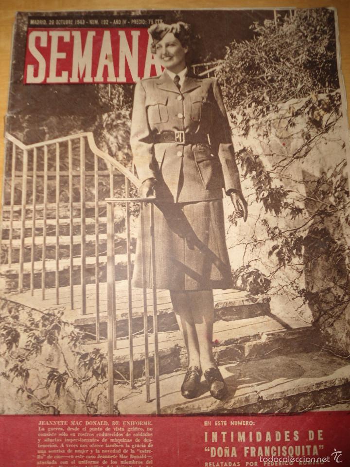 ANTIGUA REVISTA SEMANA - 1943 - NUM 192 - SEGUNDA GUERRA MUNDIAL (Coleccionismo - Revistas y Periódicos Modernos (a partir de 1.940) - Otros)