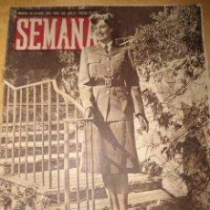 Coleccionismo de Revistas y Periódicos: ANTIGUA REVISTA SEMANA - 1943 - NUM 192 - SEGUNDA GUERRA MUNDIAL. Lote 57813715