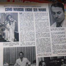Coleccionismo de Revistas y Periódicos: RECORTE MARISOL PEPA FLORES . Lote 57819391