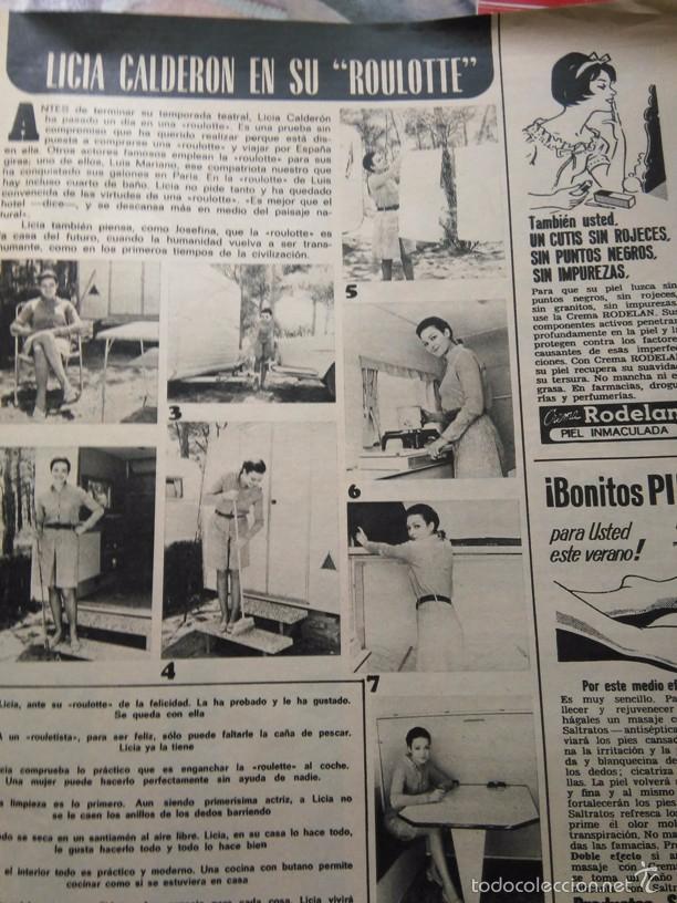 RECORTE LICIA CALDERON (Coleccionismo - Revistas y Periódicos Modernos (a partir de 1.940) - Otros)