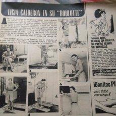 Coleccionismo de Revistas y Periódicos: RECORTE LICIA CALDERON. Lote 57821801