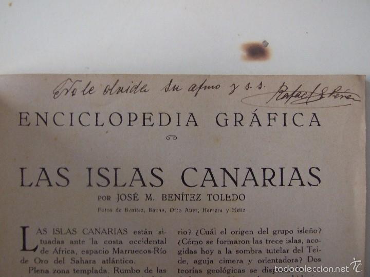 Coleccionismo de Revistas y Periódicos: ENCICLOPEDIA GRAFICA CANARIAS -EDITORIAL CERVANTES -1930- - Foto 6 - 57834033