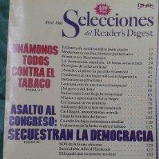 Coleccionismo de Revistas y Periódicos: SELECCIONES DEL READER'S DIGEST 1981 ASALTO AL CONGRESO, ETC. Lote 57849817