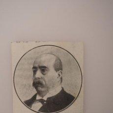 Coleccionismo de Revistas y Periódicos: RECORTE DE REVISTA ORIGINAL 1917. CATEDRÁTICO PUBLICISTA MIGUEL MORAYTA, FALLECIDO. Lote 57891472