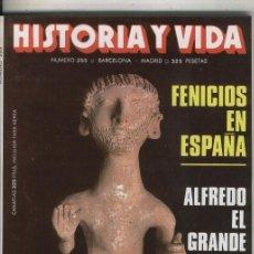 Coleccionismo de Revistas y Periódicos: HISTORIA Y VIDA NUMERO 255: FENICIOS EN ESPAA. Lote 57062386