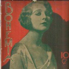 Coleccionismo de Revistas y Periódicos: REVISTA BOHEMIA. Nº 10 . MARZO DE 1927. MADGE BELLAMY. NORMAN KERRY. . Lote 57905312