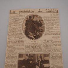 Coleccionismo de Revistas y Periódicos: ENTREVISTA REVISTA ORIGINAL 1929 A JOSE RODRIGUEZ MOURELO, LOS PERSONAJES DE GALDÓS. Lote 57907689