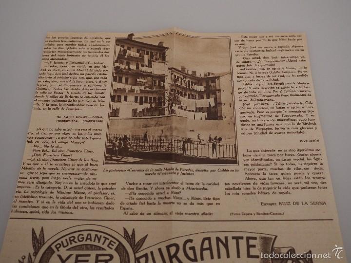 Coleccionismo de Revistas y Periódicos: ENTREVISTA REVISTA ORIGINAL 1929 A JOSE RODRIGUEZ MOURELO, LOS PERSONAJES DE GALDÓS - Foto 2 - 57907689