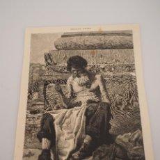 Coleccionismo de Revistas y Periódicos: HOJA GRABADO REVISTA ORIGINAL SIGLO XIX. UN CIUDADANO ROMANO EN 1869 (BOCETO PELLICER). Lote 57908777