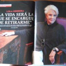 Coleccionismo de Revistas y Periódicos: RECORTE LOLA HERRERA. Lote 57908969