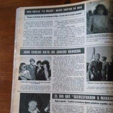 Coleccionismo de Revistas y Periódicos: RECORTE LA POLACA JUAN CARLOS NAYA MARADONA PEPA COTILLO. Lote 57911093