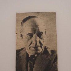 Coleccionismo de Revistas y Periódicos: RECORTE DE PRENSA ORIGINAL 1947. FOTOGRAFIA DE JOSÉ ORTEGA Y GASSET. Lote 57926649