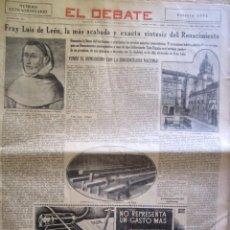 Coleccionismo de Revistas y Periódicos: PERIODICO EL DEBATE 1934. Lote 58078433