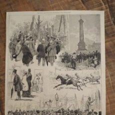 Coleccionismo de Revistas y Periódicos: GRABADO DE REVISTA ORIGINAL SIGLO XIX. REVISTA ILUSTRADA DE PARIS, POR PELLICER. Lote 58078525