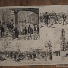 Coleccionismo de Revistas y Periódicos: GRABADO DE REVISTA ORIGINAL SIGLO XIX. ESCENAS DE PARIS, POR PELLICER. Lote 58078593