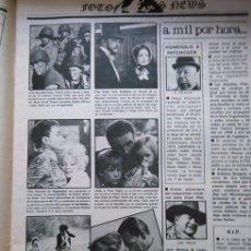 Coleccionismo de Revistas y Periódicos: RECORTE SEAN CONNERY LESLEY ANNE DOWN ALFRED HITCHCOCK JOHN WAYNE JAMES CAAN LEE MARVIN . Lote 58103052