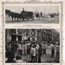 Coleccionismo de Revistas y Periódicos: MALAGA 1912 HUELGA MUELLES HOJA REVISTA . Lote 58107965