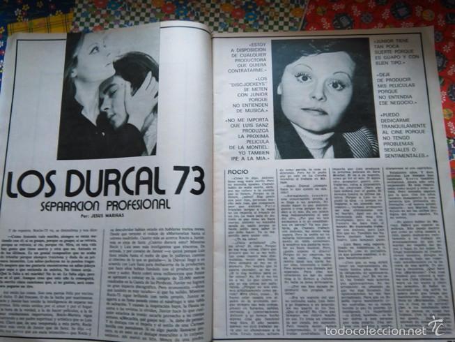 RECORTE ROCIO DURCAL ANTONIO MORALES JUNIOR (Coleccionismo - Revistas y Periódicos Modernos (a partir de 1.940) - Otros)
